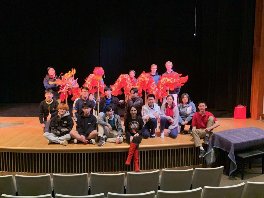 Culture Club students after a successful Chinese New Year celebration.
